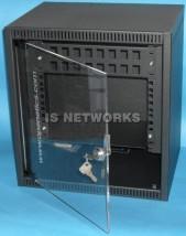"""Szafa wisząca 10"""" wyposażona w półkę i patch panel 16-port"""