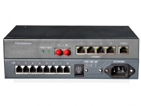 Konwerter multiplekser 8 analog. linii telef. na światłowód + Ethernet RF-HU-FPCM