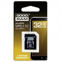 GOODRAM microSDHC 32GB UHS-I class 10+adapter SDU32GHCUHS1AGRR10