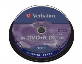 Płyty DVD+R DL Verbatim 8x 8.5GB (Cake 10)