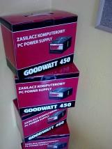 Tanie nowe zasilacze komputerowe GoodWatt UltraSilent ATX 400W 450W ATX SATA PCI-E