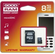 Karta pamięci microSDHC 8GB GOODRAM + adapter SDHC