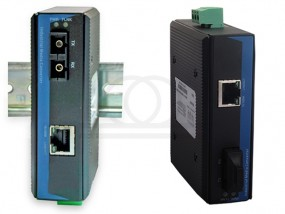 Media konwerter 100 Mb/s RF-DIN, SM, 10/100M Fast Ethernet. RF-DIN-10/100