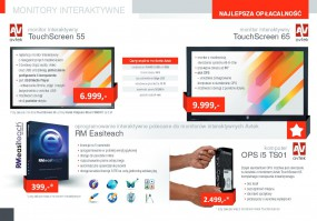 Monitory dotykowe interaktywne TouchScreen 55 cali i 65 cali