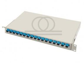 Symetryczny splitter optyczny PLC - montaż Rack 1x16 16 SC