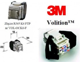 Złącza RJ-45 kat. 5e i kat. 6 3M Volition