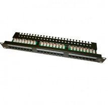 Patch panel UTP 19 cali 24x RJ45 kat.5e tacka złącza KRONE