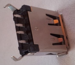 Gniazdo USB A 2.0 proste złocone