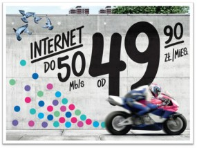 Internet do 50 Mb/s w Netii