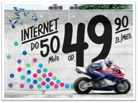 Internet do 50 Mb/s w Netii